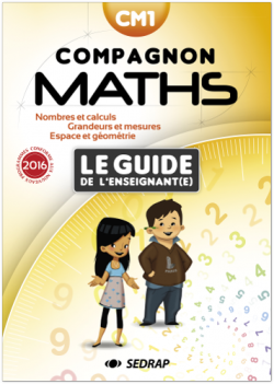 Guide SEDRAP Compagnon Maths CM1