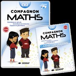manuel Compagnon Maths CE2 des Editions SEDRAP conforme aux programmes 2016
